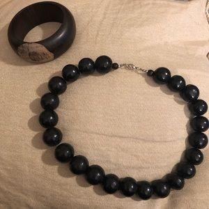 Jewelry - Dark wood necklace and bracelet